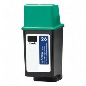 Cartuchos de tinta reciclados HP 26  Negro